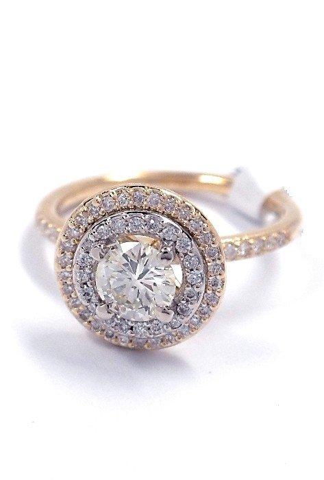 14KT White & Yellow Gold 0.80tcw Diamond Ring J71