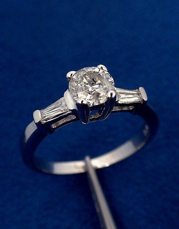 14KT White gold 1.00ct Diamond Unity Ring A3124