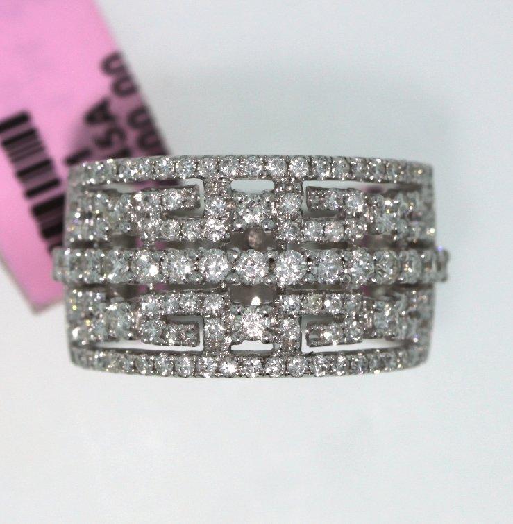 14KT White Gold 1.34ct Round Diamond Ring FJM1367