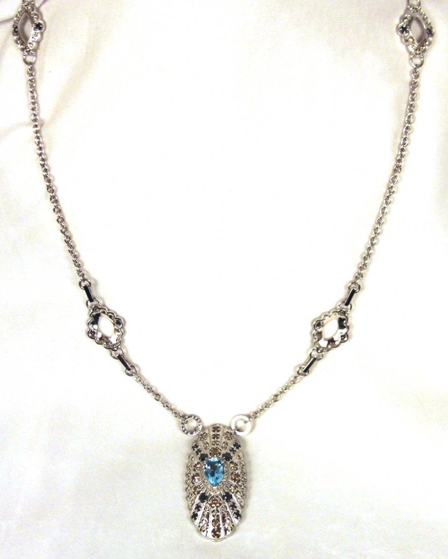 Badgley Mischka 18KT White Gold Multi-Color Diamond and