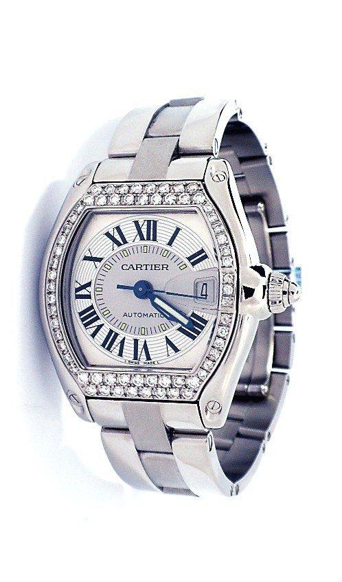 Mens Cartier Stainless Steel Roadster Wristwatch A3840