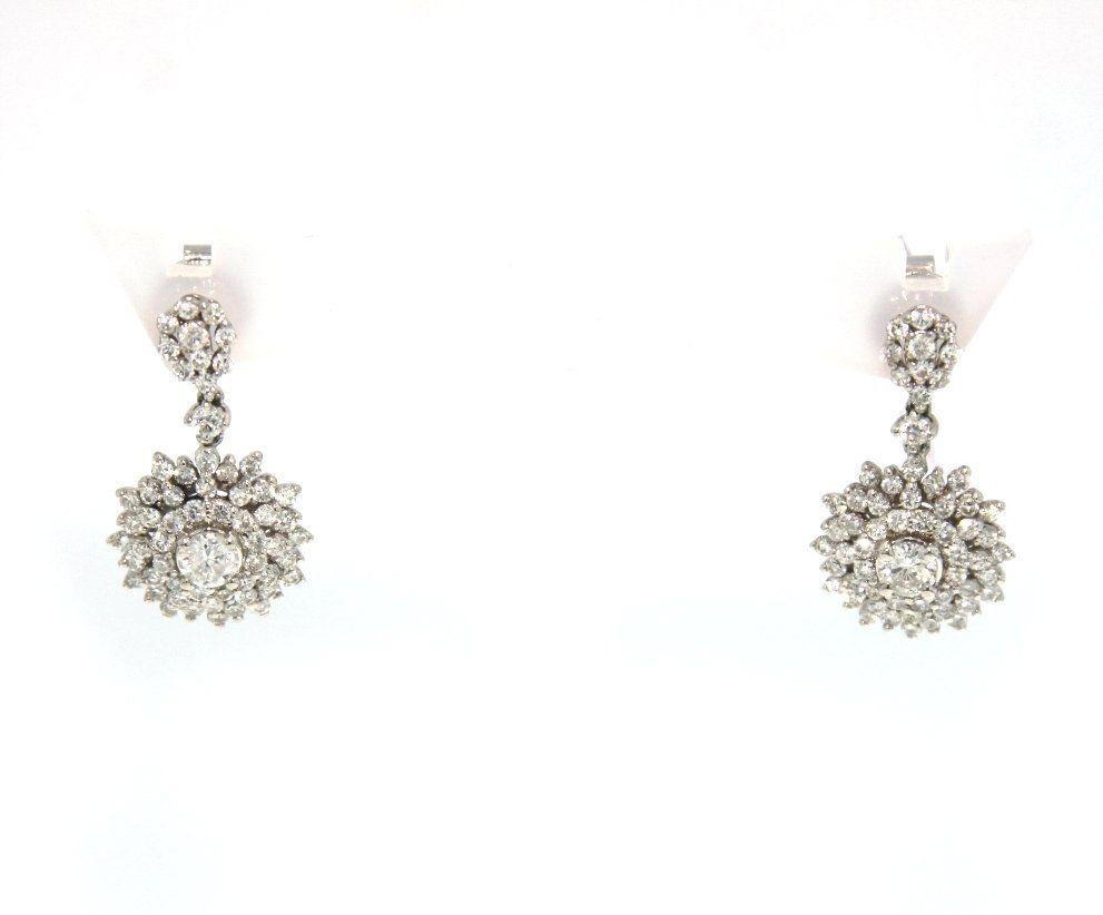 18KT White Gold 1.79ct Diamond Earrings FJM1272