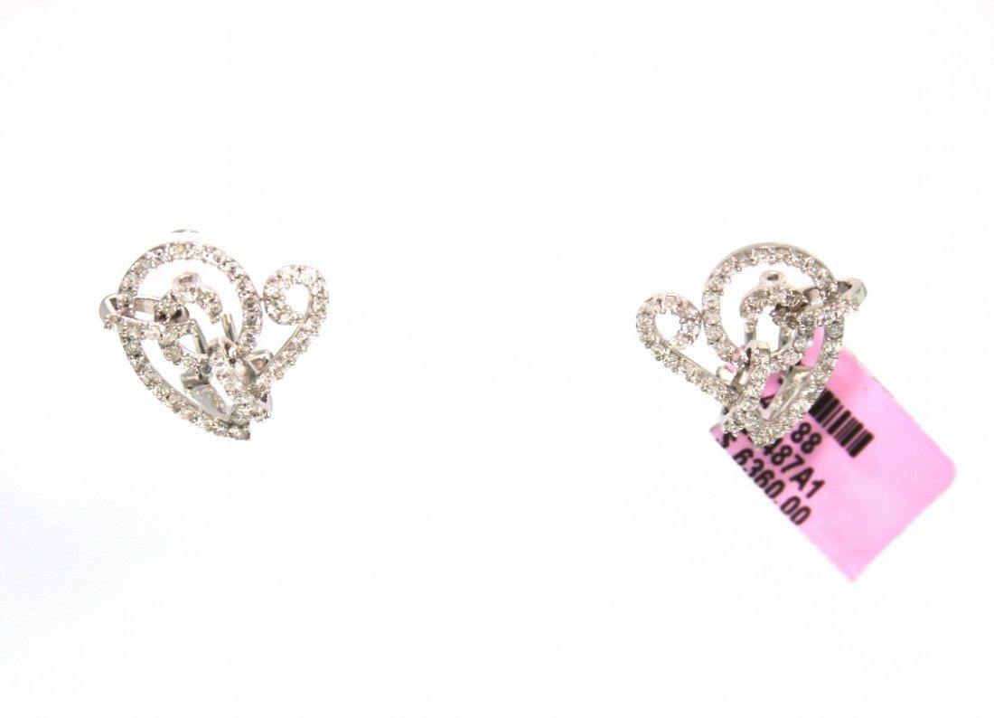 18KT White Gold 1.10ct Diamond Earrings FJM1759