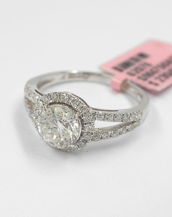 18KT White Gold 1.43ct Diamond Ring FJM1437