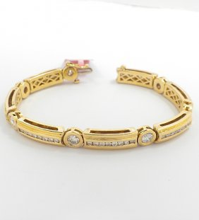 18KT Yellow Gold 4.70ct Diamond Bracelet FJM1449