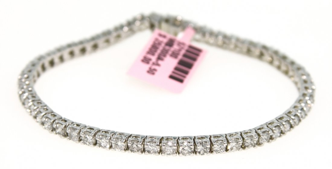 14KT White Gold 5.5ct Diamond Tennis Bracelet FJM1090