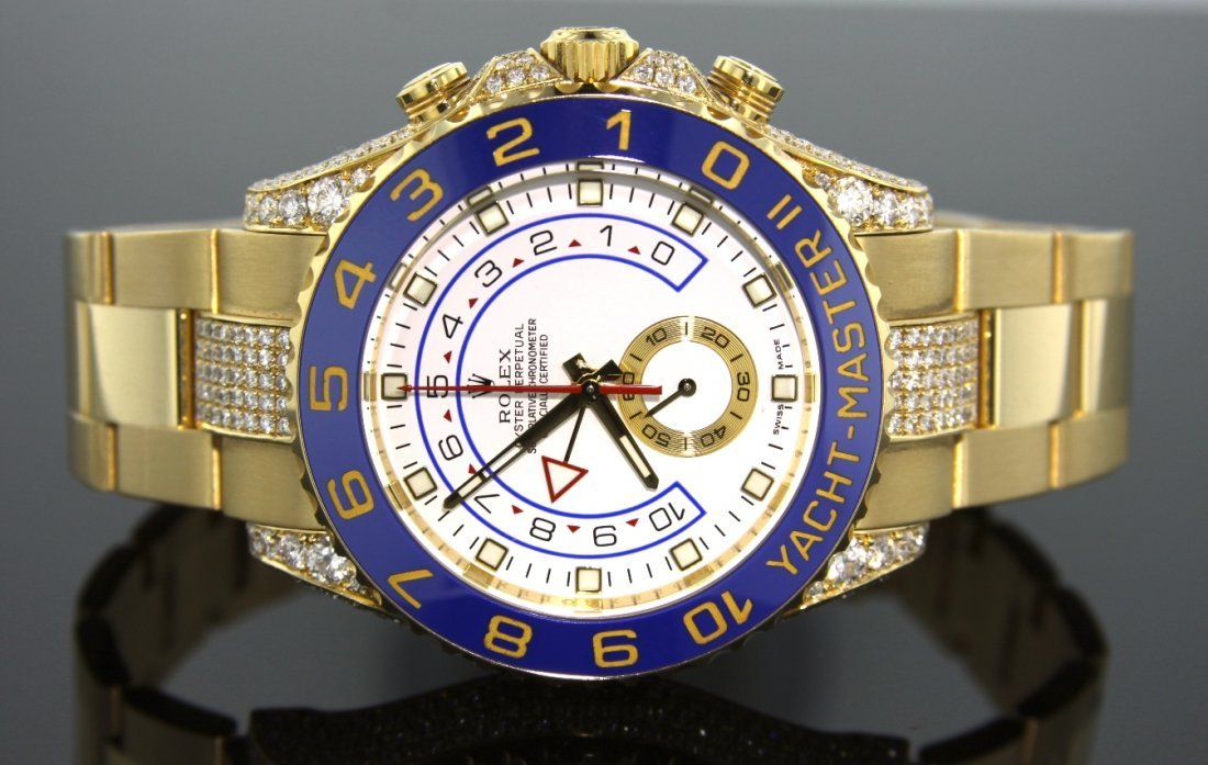 18KT Yellow Gold Rolex Yacht-Master II Diamond Wristwat