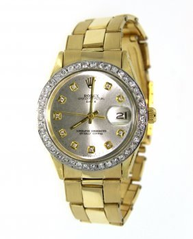 Gents 14KT Yellow Gold Rolex Date Model Watch A3958