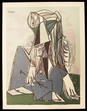 "Picasso ""The Thinker"" Fine Art Print AP458"
