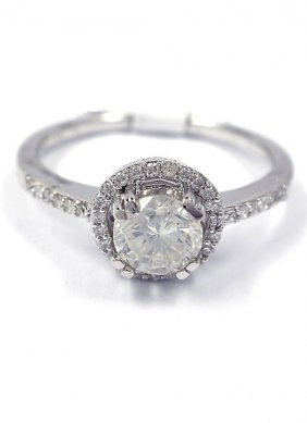 14KT White Gold 0.84ct Diamond Ring A3798