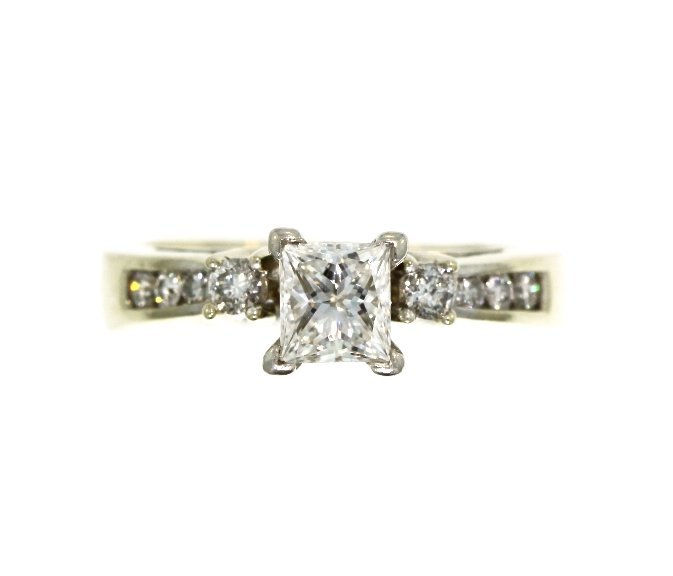 14KT White Gold 0.96tcw Diamond Ring Set A3942