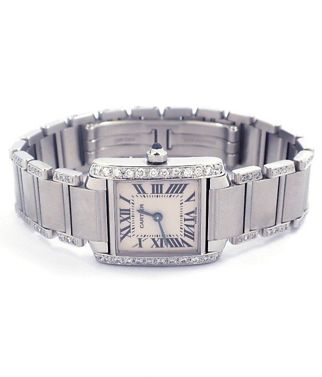 Ladies Cartier Tank Francaise Wristwatch GB78