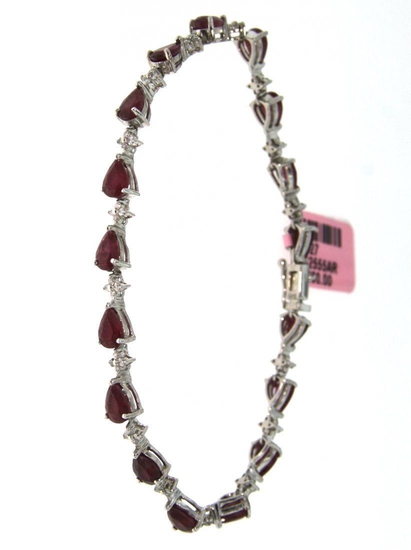 14KT White Gold 9.00ct Ruby & Diamond Bracelet FJM1580
