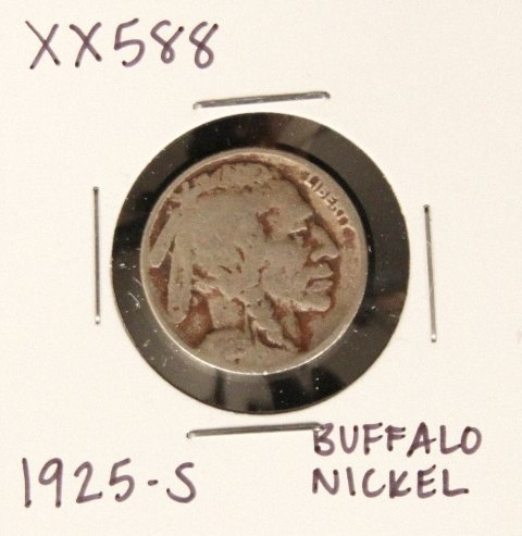 1925-S Buffalo Nickel XX588