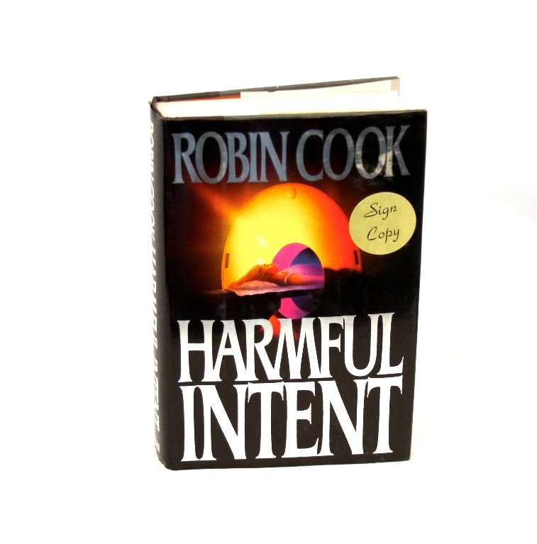 Signed Copy of Harmful Intent by Robin Cook BK220