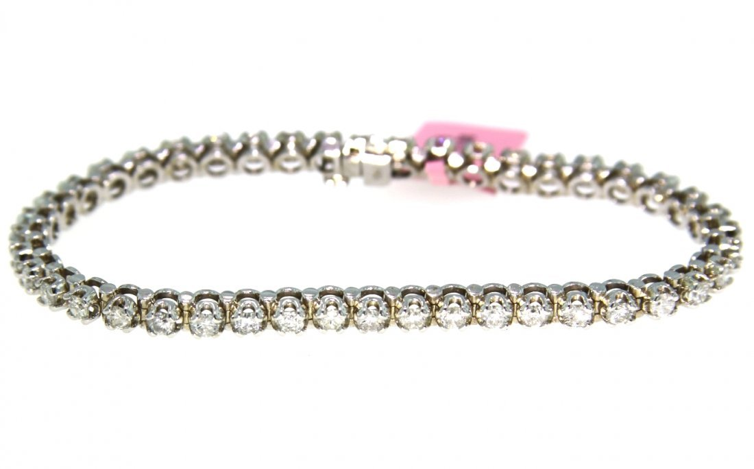 14KT White Gold 3.65tcw Diamond Bracelet FJM1723