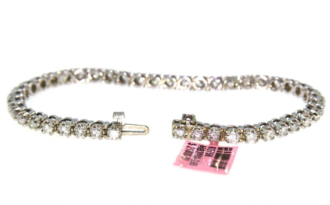 14KT White Gold 3.65tcw Diamond Bracelet FJM1723 - 2