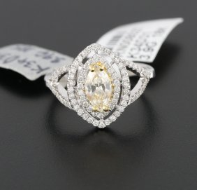 18KT White Gold .95ct Diamond Ring RM585