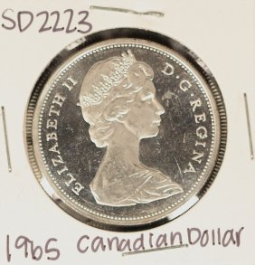 1965 Canadian Silver 'Loonie' Coin SD2223