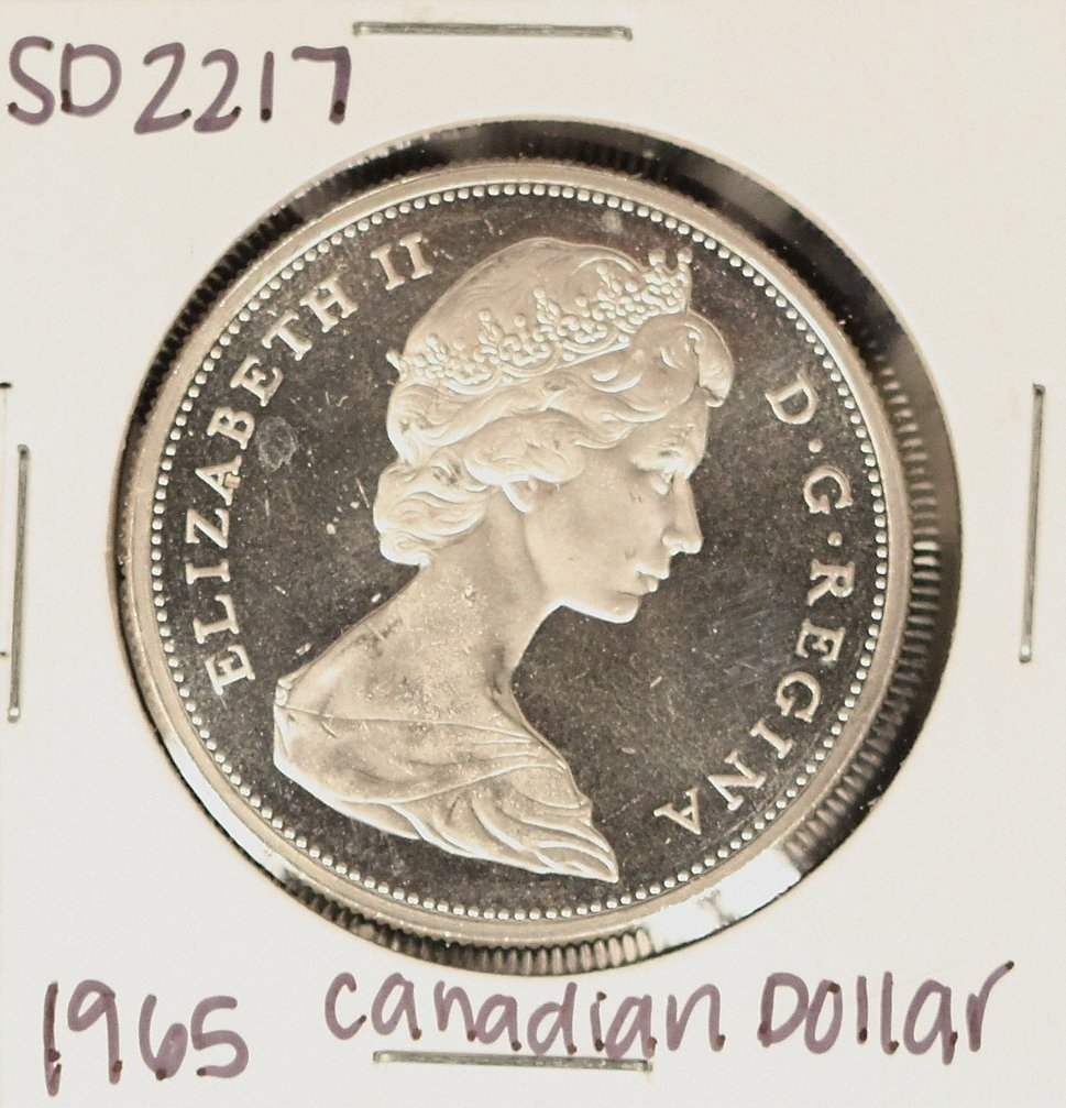 1965 Canadian Silver 'Loonie' Coin SD2217