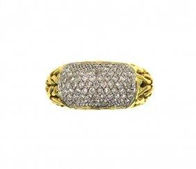 14KT Yellow Gold 1.01ct Diamond Designer Ring GB82