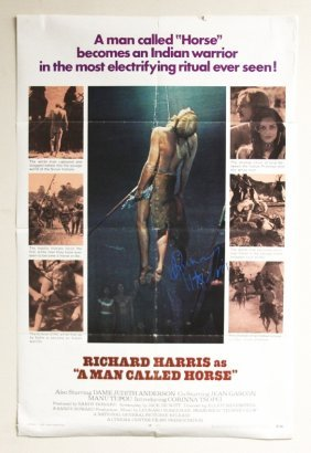 """""""A Man Called Horse"""" Autographed Movie Poster SM38"""