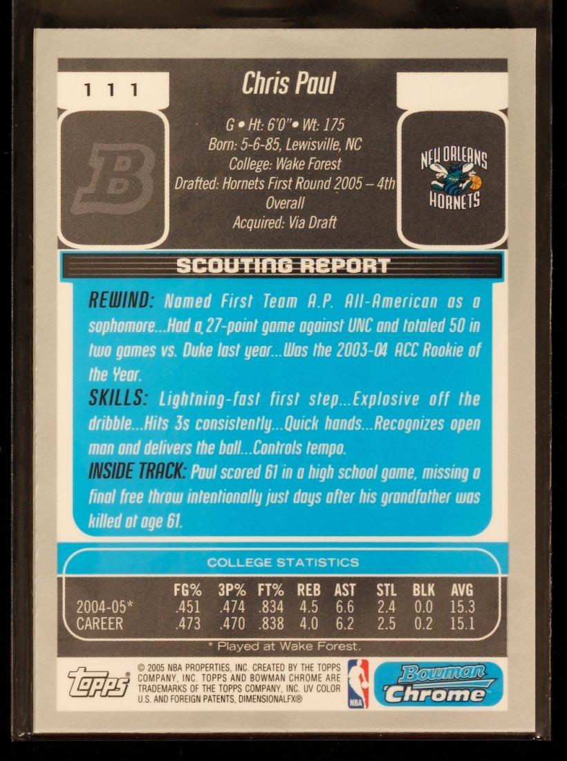 2005 Bowman Chrome Chris Paul Rookie Card C291 - 2