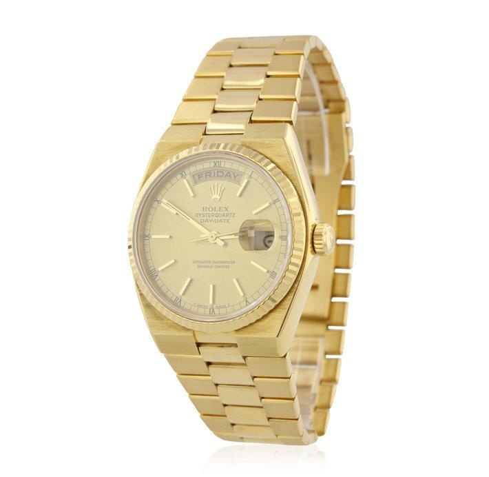 Gents Rolex OysterQuartz DayDate 18KT Yellow Gold Wrist