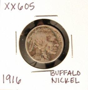 1916 Buffalo Nickel XX605