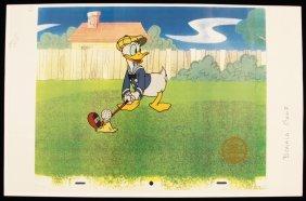 "Walt Disney ""How to Play Golf: Donald"" Serigraph Cel Di"