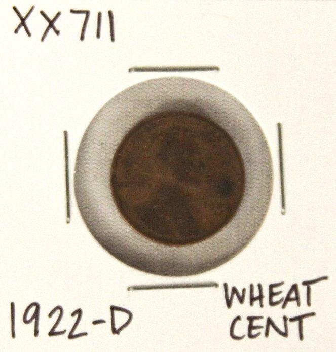1922-D Wheat Cent XX711