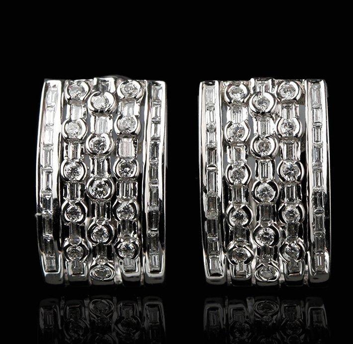 18KT White Gold 2.10ctw Diamond Earrings FJM2332