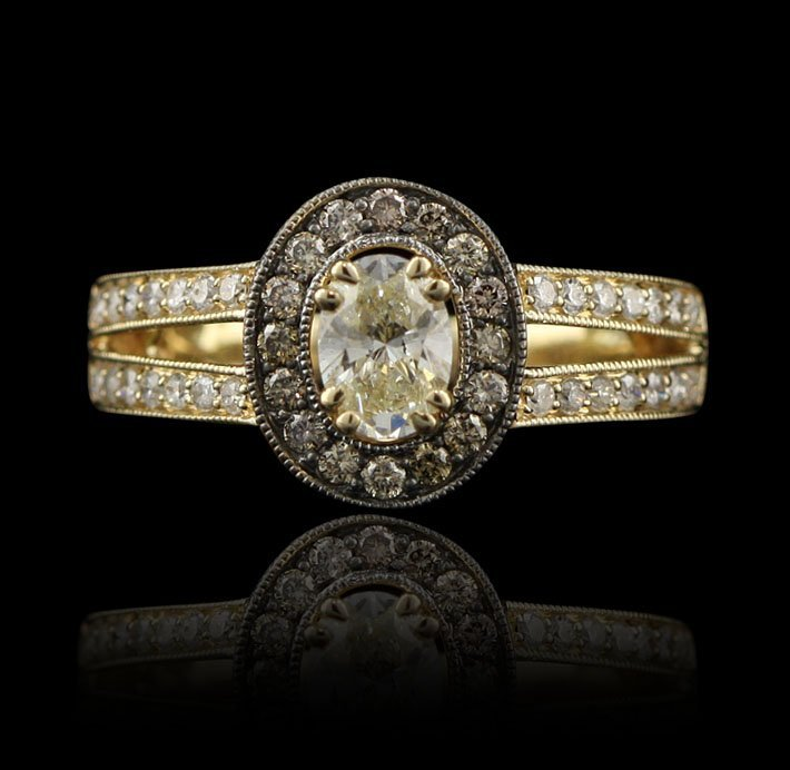 14KT Yellow Gold 0.95ctw Diamond Unity Ring A4072