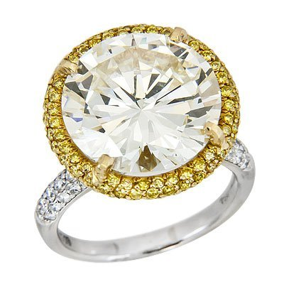 Platinum and 18KT Yellow Gold 12.31ct GIA VVS1/S-T Diam