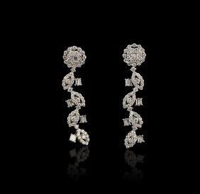 18KT White Gold 2.05ctw Diamond Earrings FJM2134