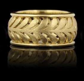 Tiffany & Co. Villa Paloma Palm 18KT Yellow Gold Ring G