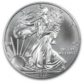 2012 American Silver Eagle Dollar GEM BU Coin MNTCN6