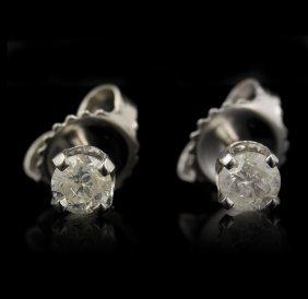 14KT White Gold 0.33ctw Diamond Earrings GB942