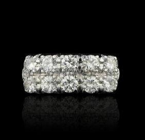 14KT White Gold 0.90ctw Diamond Ring GB391