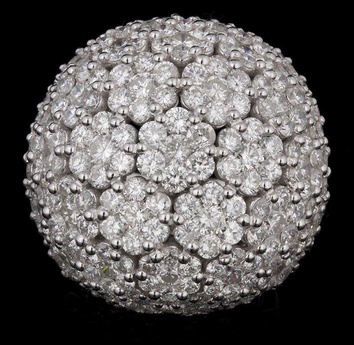 14KT White Gold 11.67ctw Diamond Ring FJM2395
