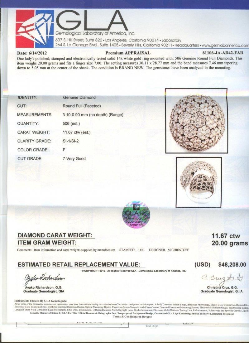14KT White Gold 11.67ctw Diamond Ring FJM2395 - 4