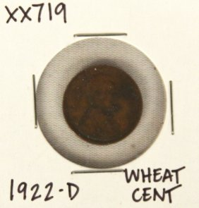 1922-D Wheat Cent XX719