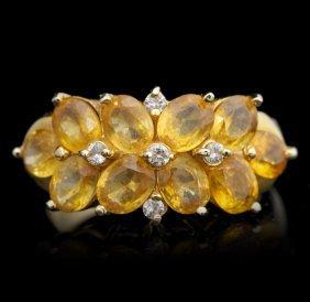 14KT Yellow Gold 2.00ctw Citrine and Diamond Ring GB104