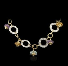 Ladies 14KT Yellow and White Gold Necklace GB422
