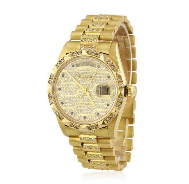 Gents Rolex DayDate 18KT Yellow Gold and Diamond Wristw