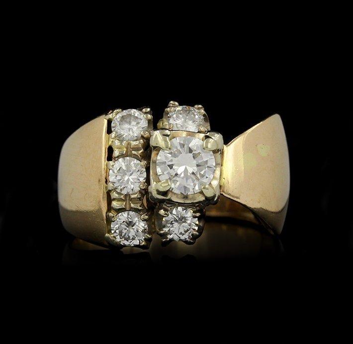 14KT Yellow Gold 1.35ctw Diamond Cocktail Ring GB1105