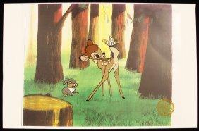 "Walt Disney ""Bambi"" Ltd Ed Serigraph Cel DisneySeri412"