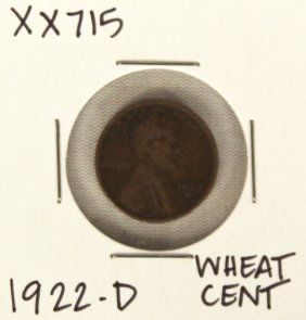 1922-D Wheat Cent XX715