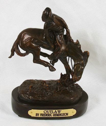 Frederic Remington Bronze Statue Reproduction - Outlaw