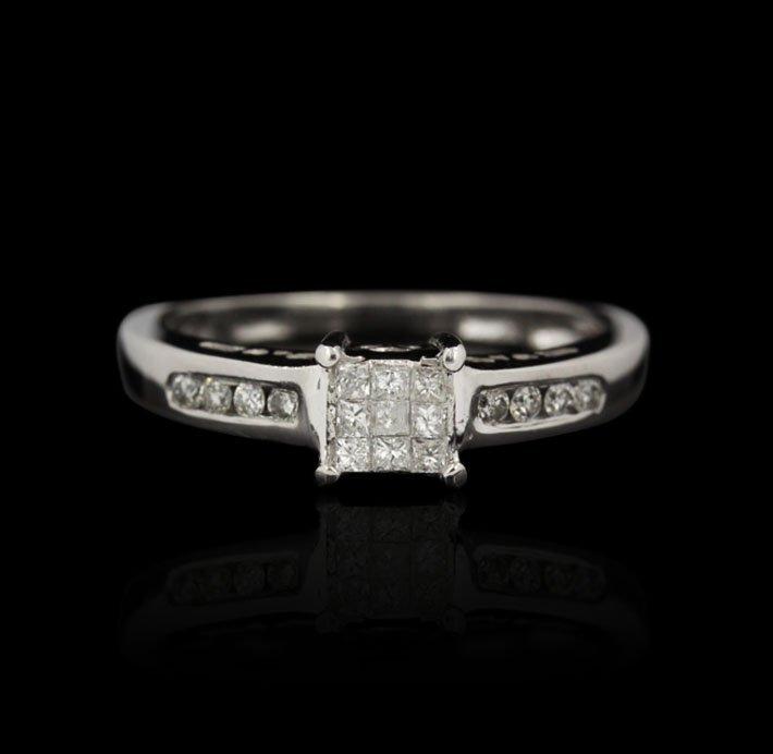 10KT White Gold 0.50ctw Diamond Ring GB1099